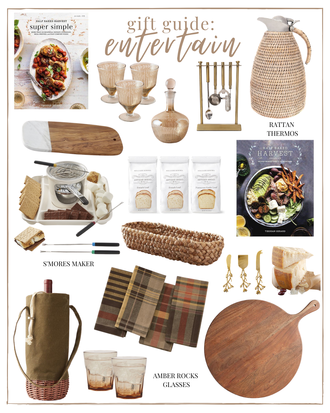 2020 Holiday Gift Guide Entertain: Home & Entertaining Gifts - a gift guide for people that love entertaining | Louella Reese