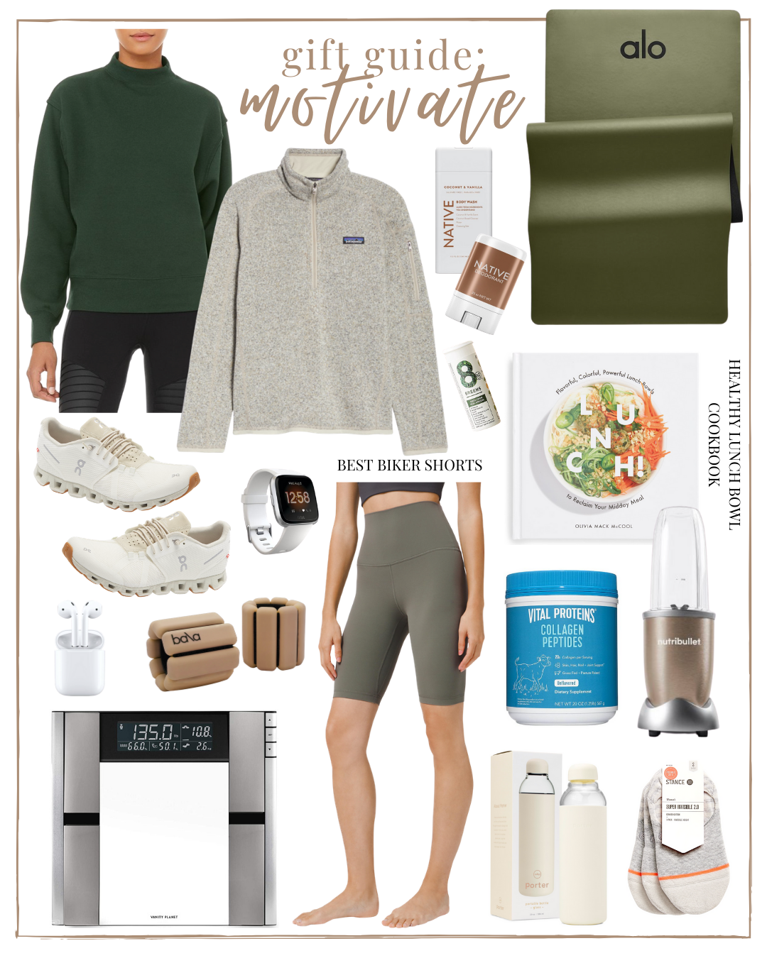 Health & Fitness Gifts 2020 Holiday Gift Guide Motivate - a gift guide for the health & fitness lover | Louella Reese