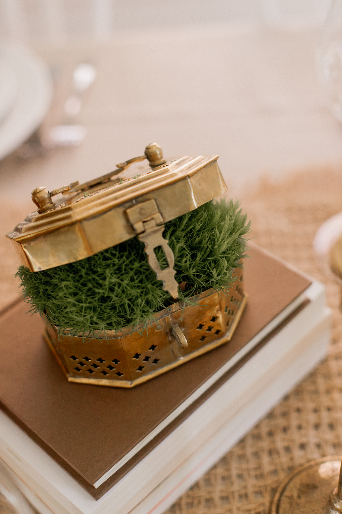 Natural Fall Tablescape, Adding Greenery to your Fall Table | Louella Reese