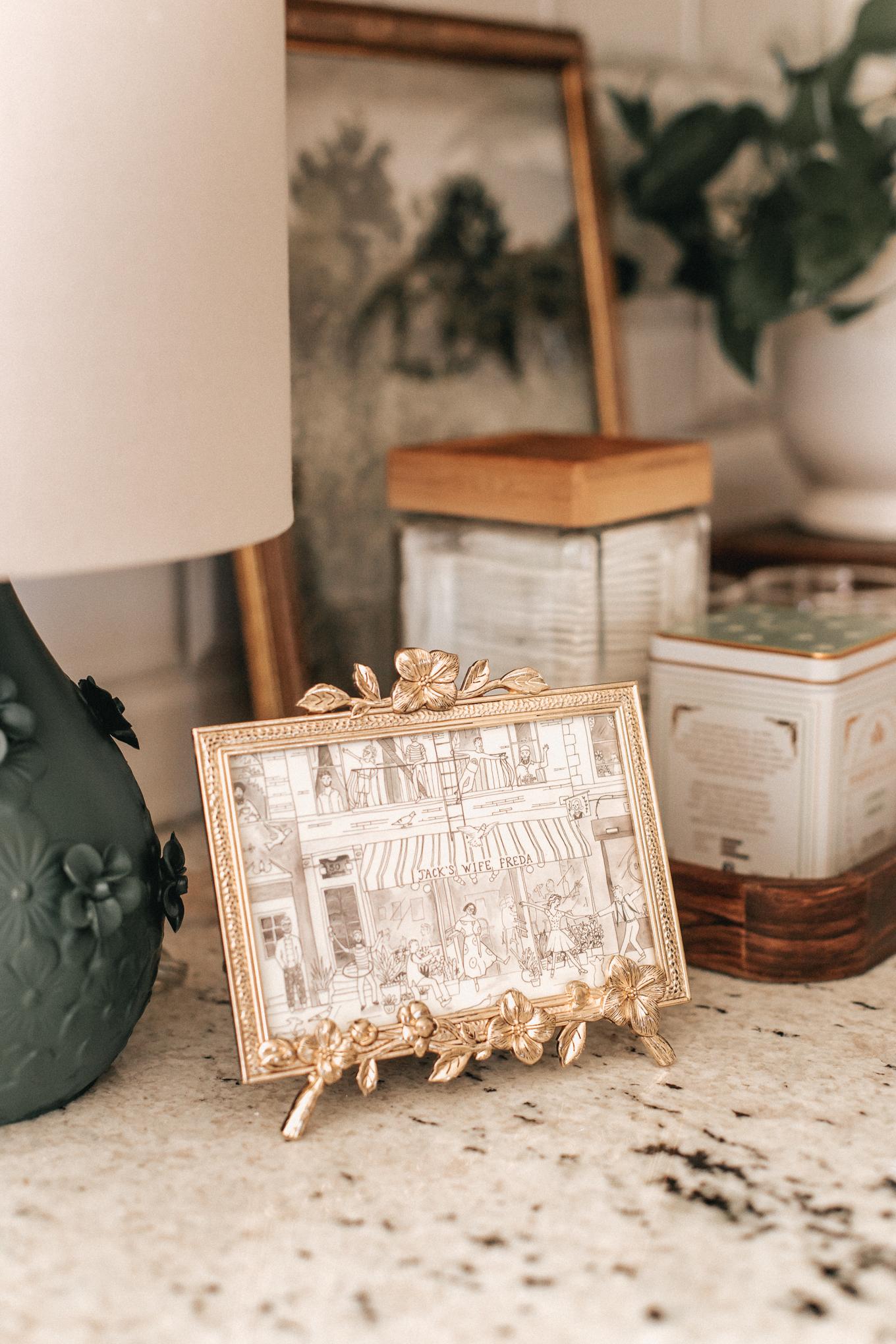 Antique Gold Floral Picture Frame | Kitchen Decor | Louella Reese