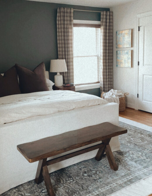 Neutral Master Bedroom with Brown Accents | Louella Reese