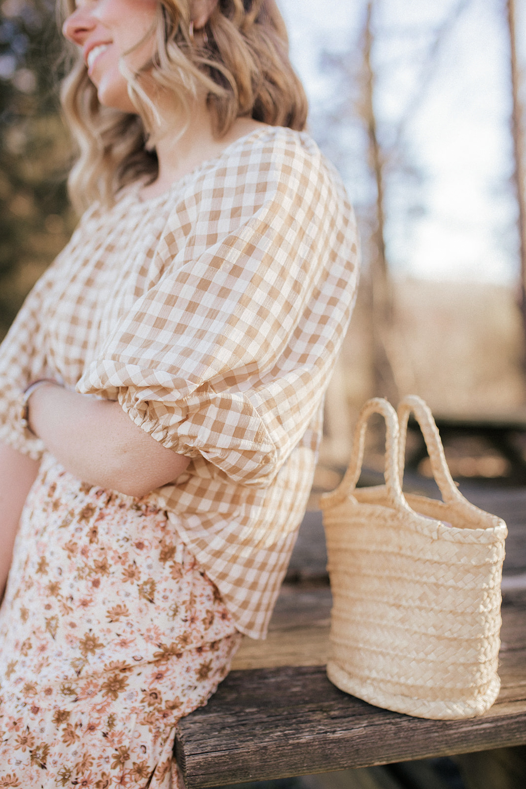 Pattern Mixing Florals and Gingham for Spring   Louella Reese