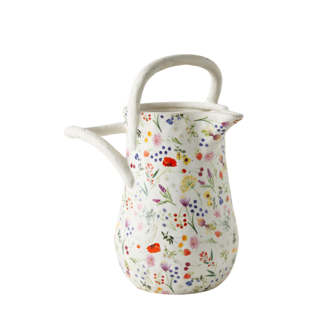floral ceramic watering can | Louella Reese