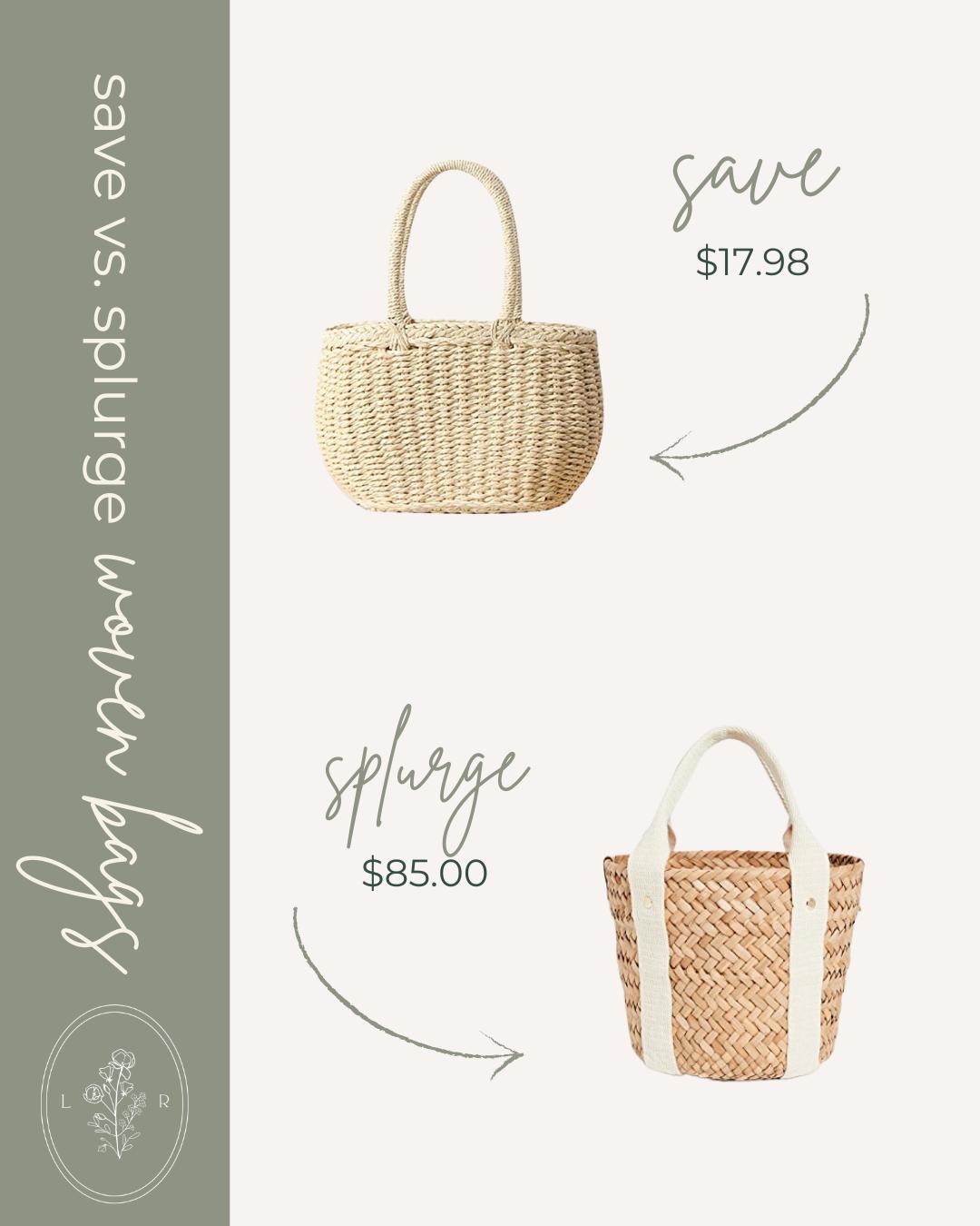 Save vs. Splurge Spring Woven Bags, Mini Straw Bag | Louella Reese