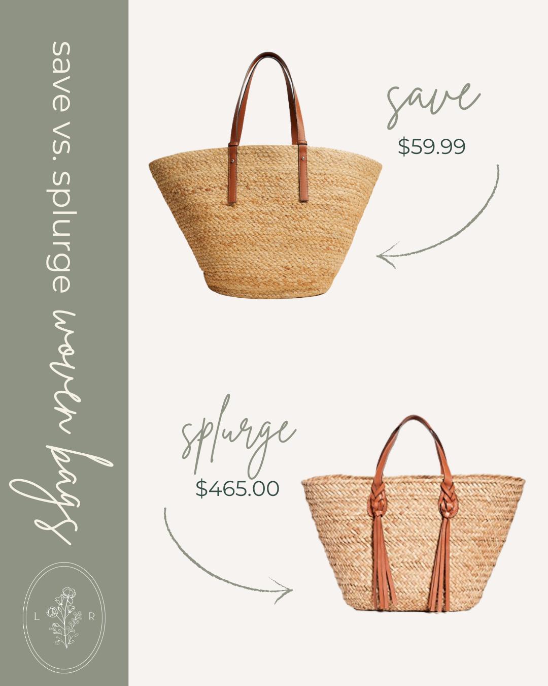 Save vs. Splurge Spring Woven Bags, Straw Tote Bag | Louella Reese