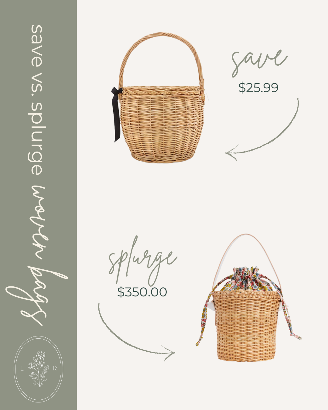 Save vs. Splurge Spring Woven Bags, Straw Bucket Bag | Louella Reese