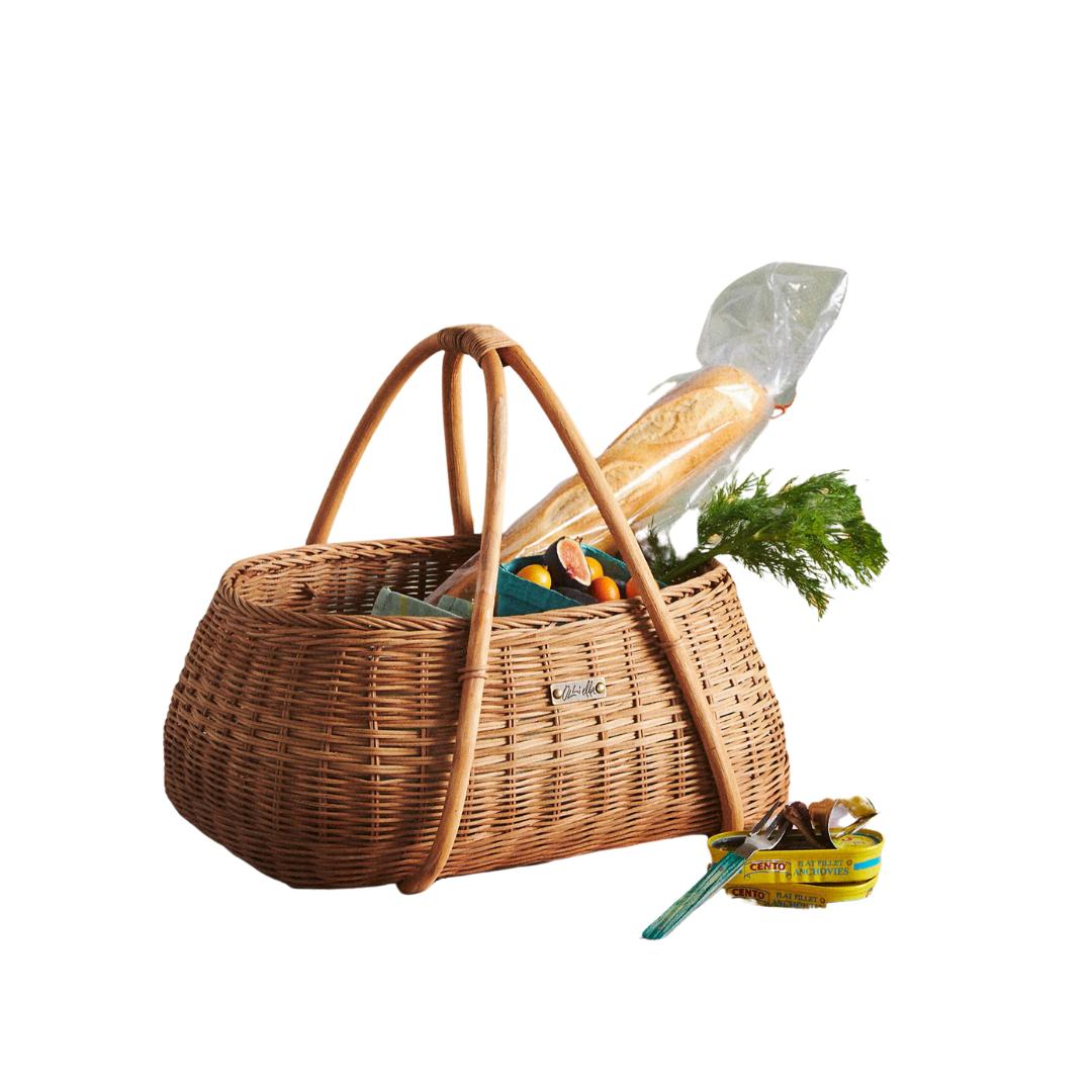Wicker Picnic Basket, lifestyle | Louella Reese