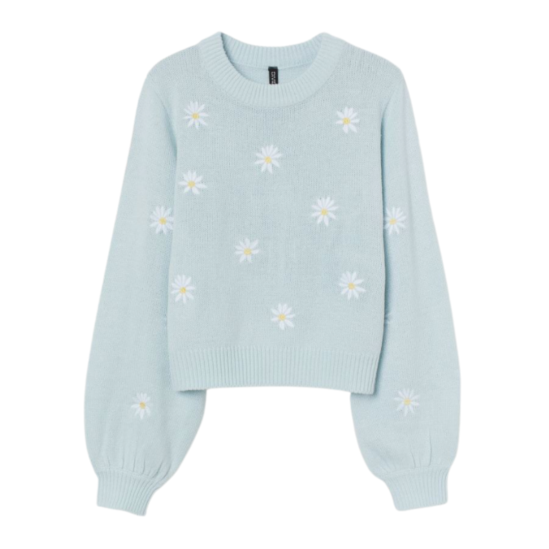 daisy sweater, spring sweater | Louella Reese