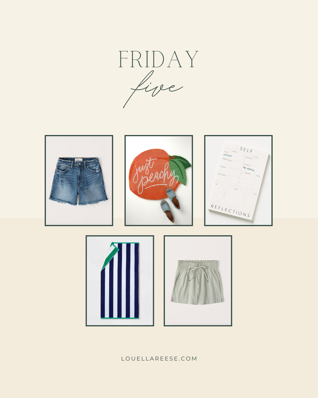Louella Reese Friday Five, Weekly Top Finds | Louella Reese