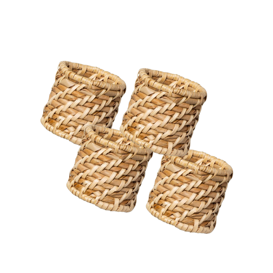 affordable wicker napkin rings, lifestyle | louella reese