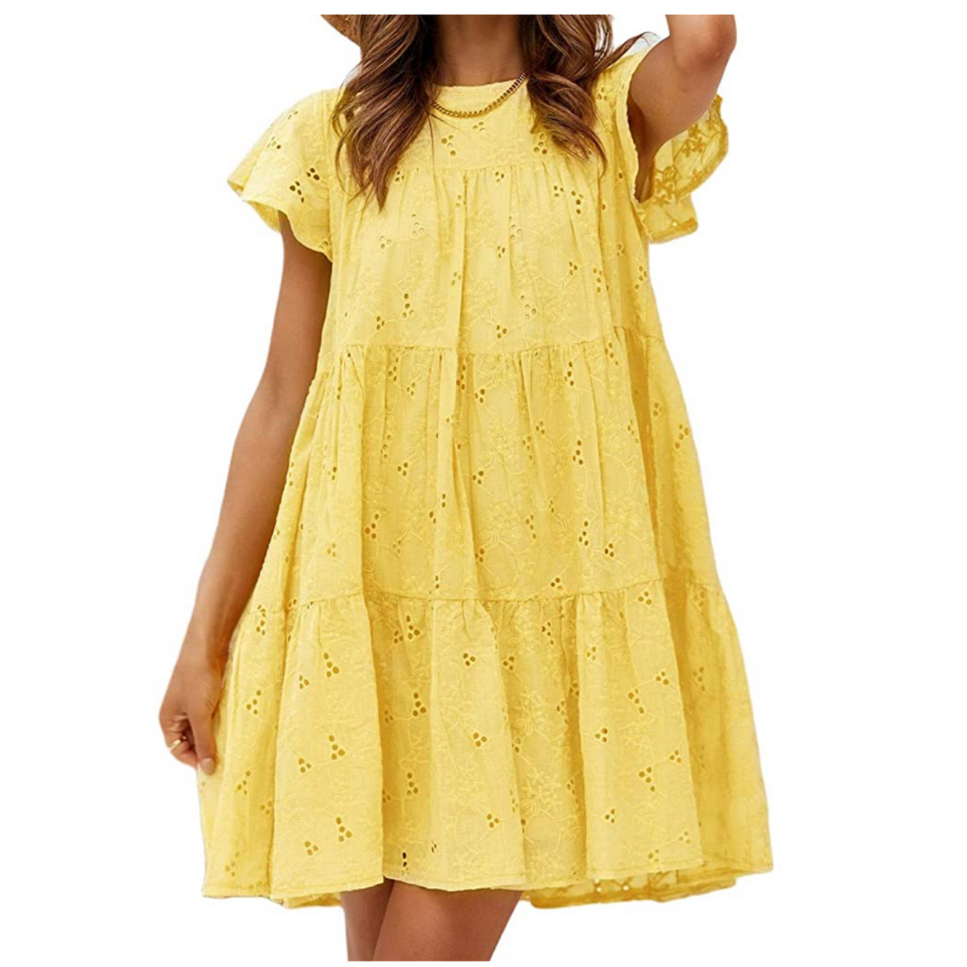 affordable spring dress, embroidered mini dress | louella reese
