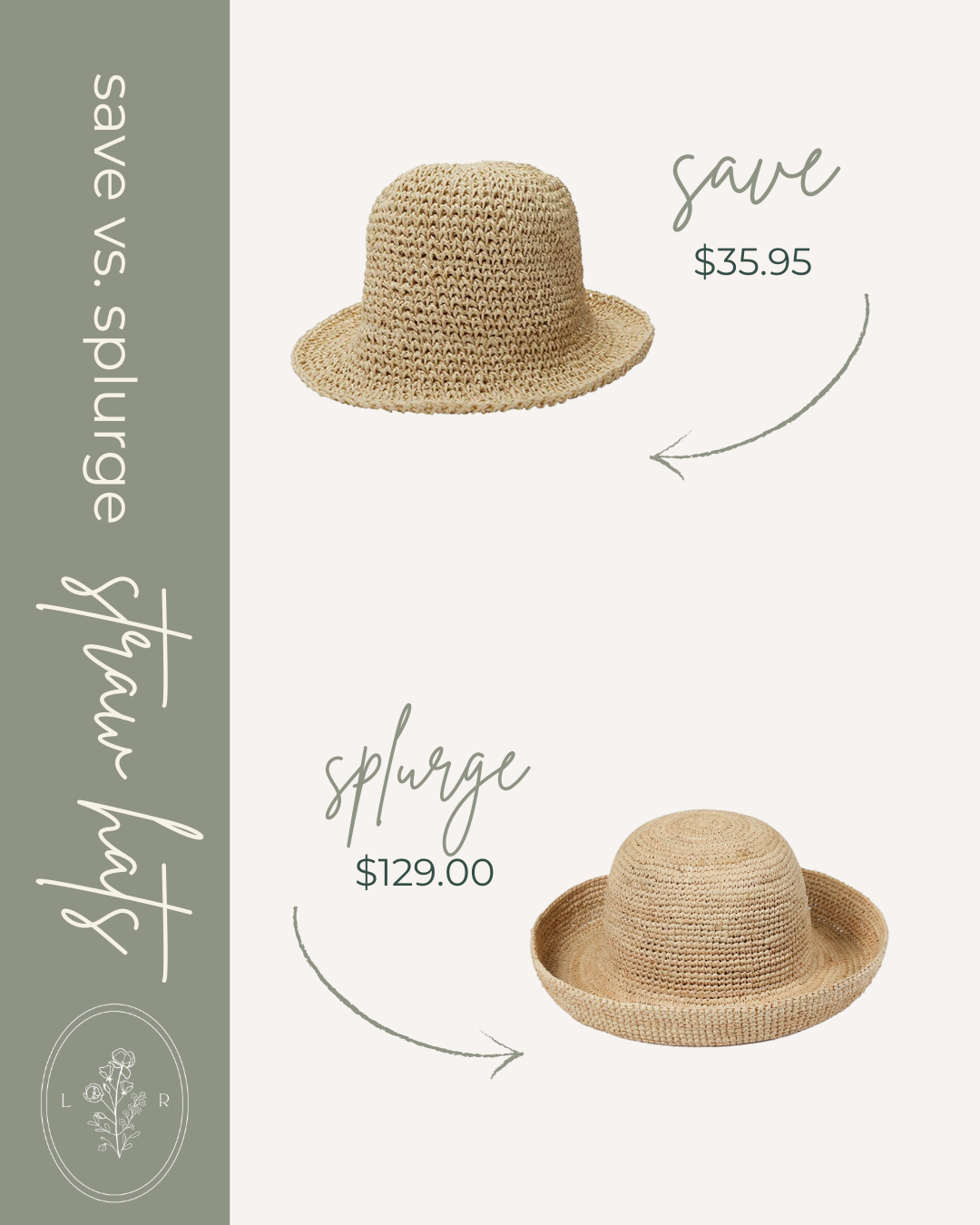 Save vs. Splurge Summer Straw Hats, Straw Bucket Hat | Louella Reese