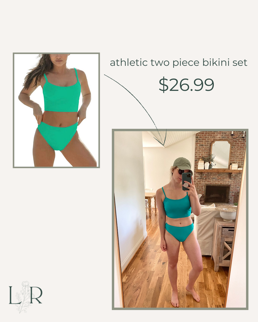 Athletic Two-Piece Swimsuit   Louella Reese