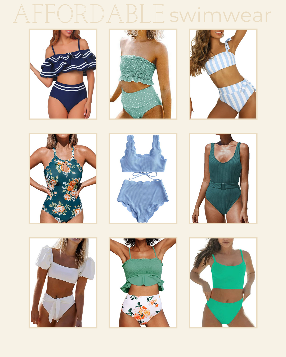 Affordable Swimwear for Summer, 9 Swimsuits under $30   Louella Reese