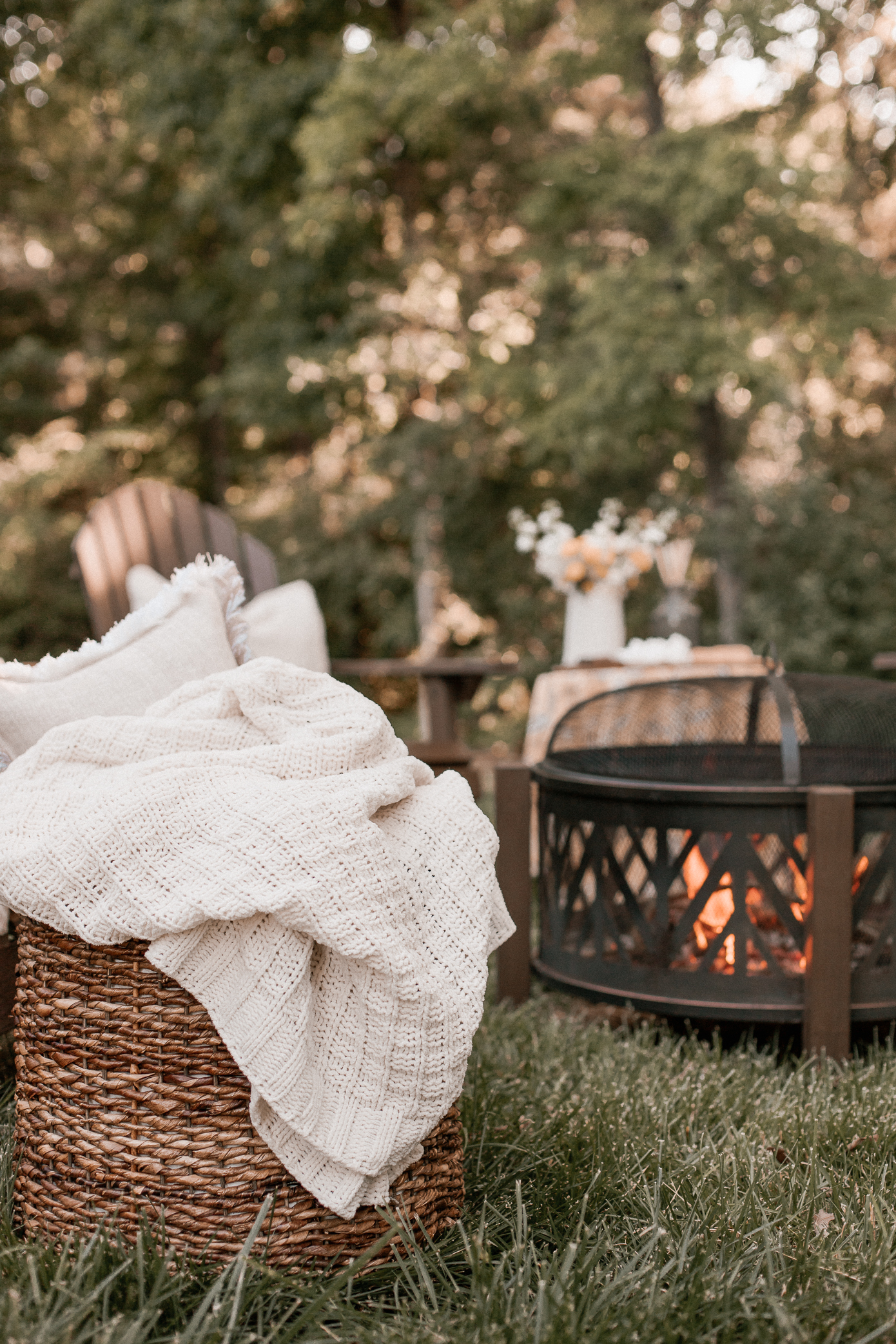 creating a backyard fire pit space | Louella Reese