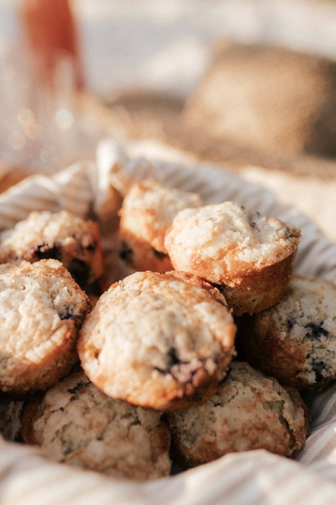 Healthier Blueberry Muffins | Louella Reese