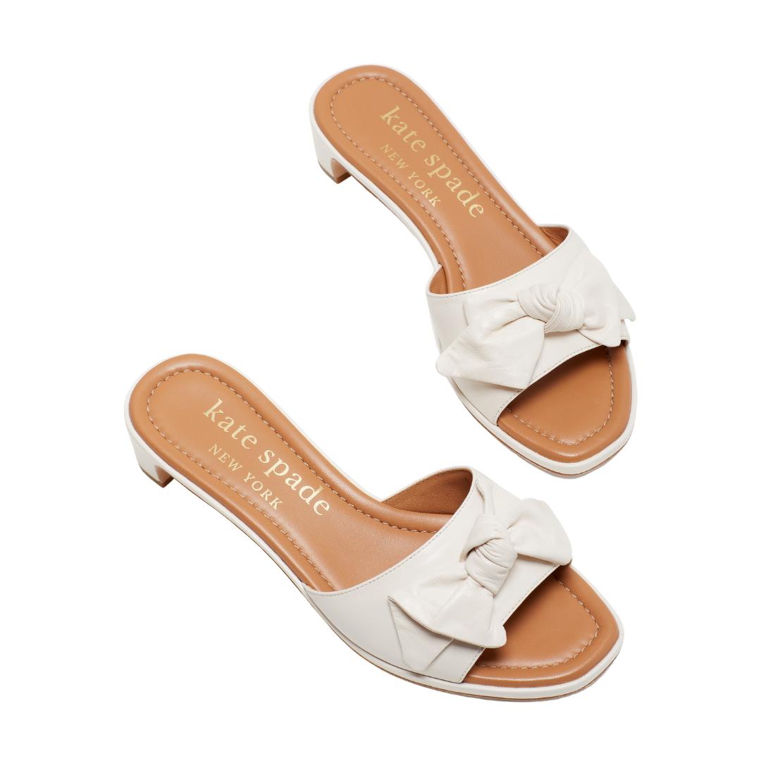 white slide sandals, summer sandals, Friday Five | Louella Reese