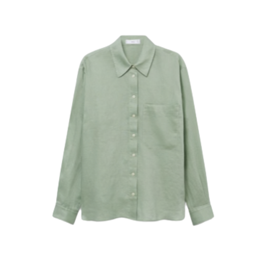 affordable women's linen shirt | Louella Reese