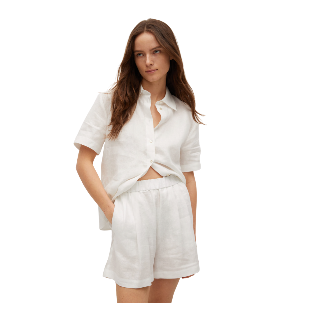 Louella Reese Friday Five   white linen shorts