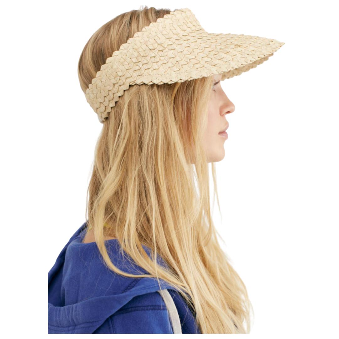 affordable woven visor, straw visor | Louella Reese