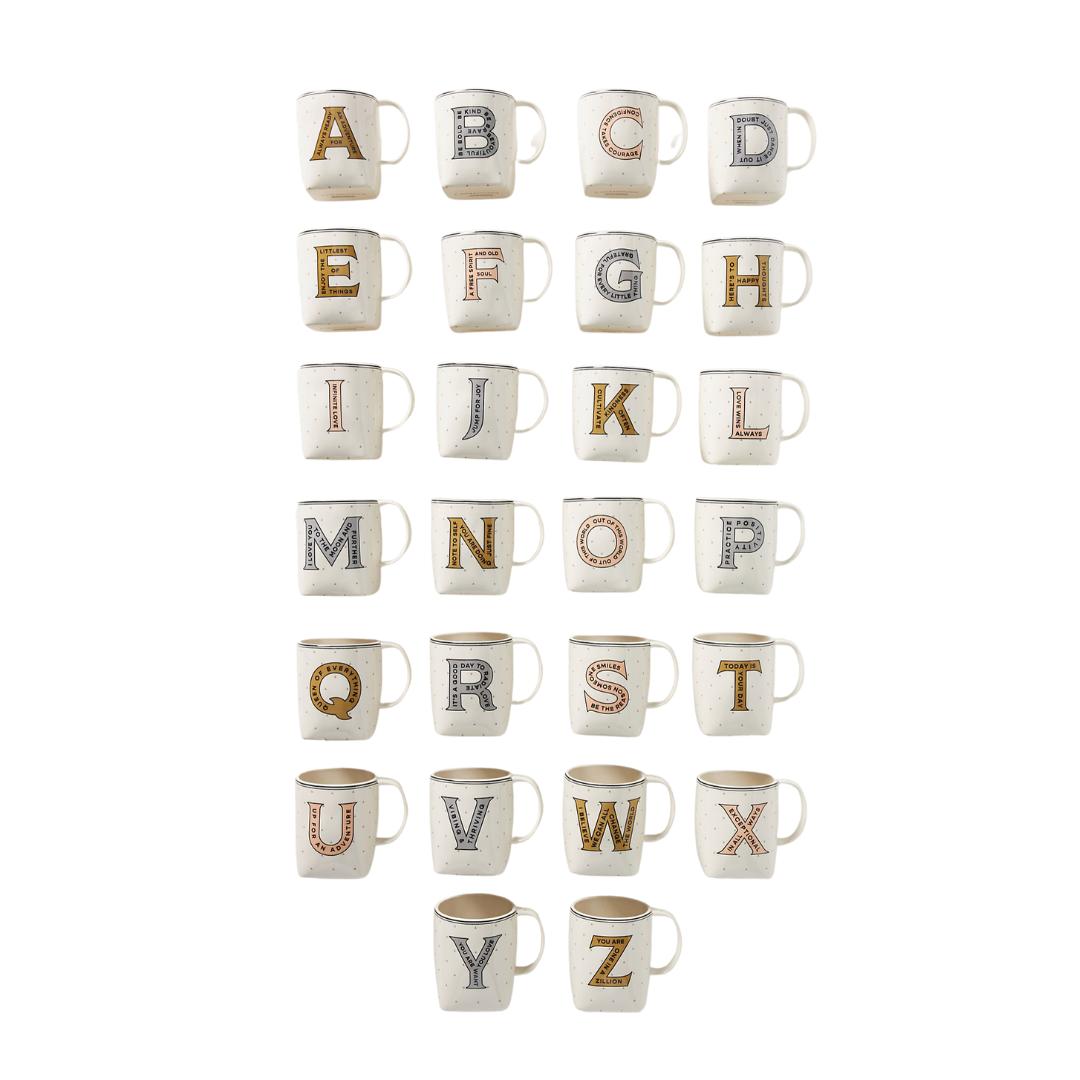 Monogram mugs, hostess gift idea | Louella Reese