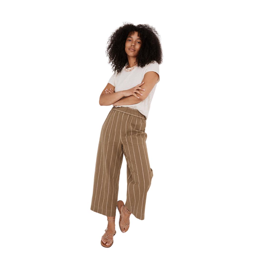 striped linen pants | Louella Reese