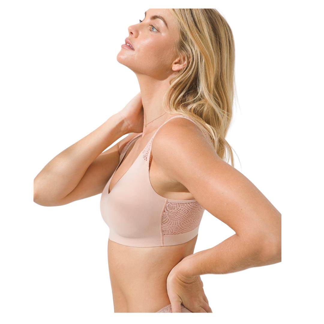 comfortable nude bralette | Louella Reese