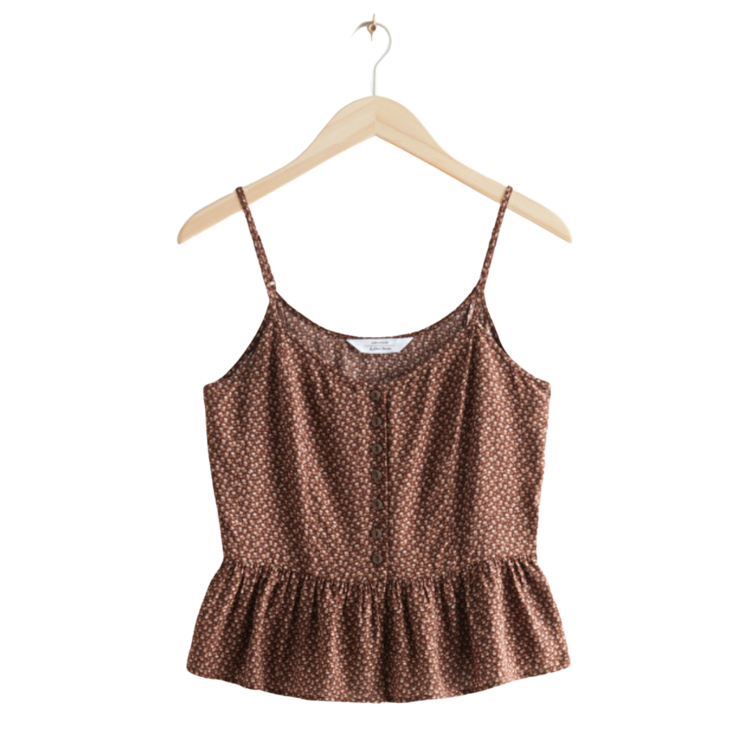 brown floral tank top | Louella Reese