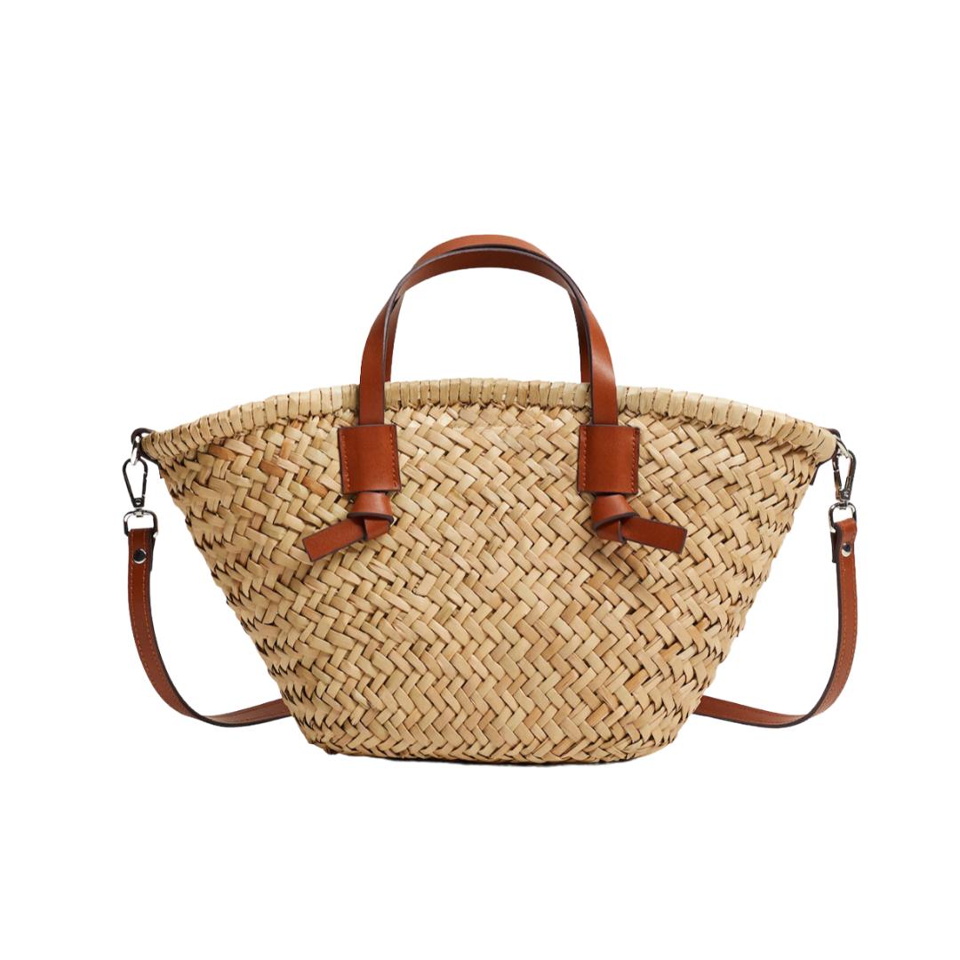 mini straw basket bag | Louella Reese