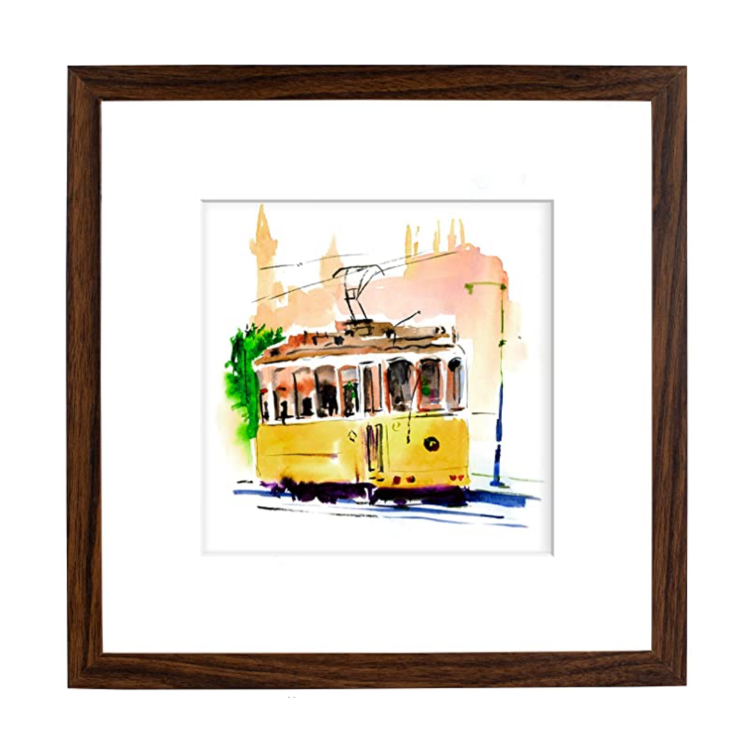 brown wood square frame   Louella Reese