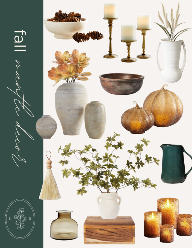 Fall Home Decor Finds, Fall Mantle Decor | Louella Reese