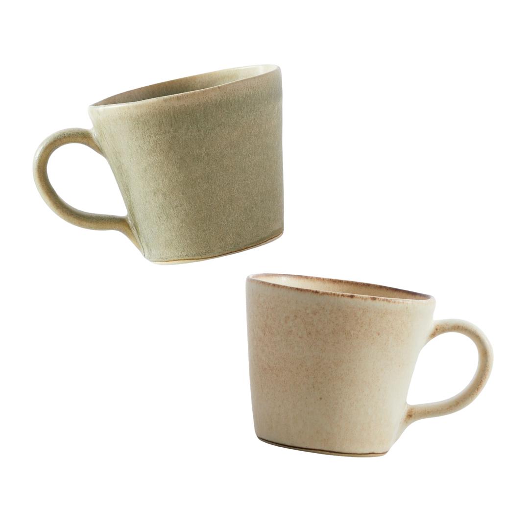 Glazed Stonewear Mugs | Louella Reese