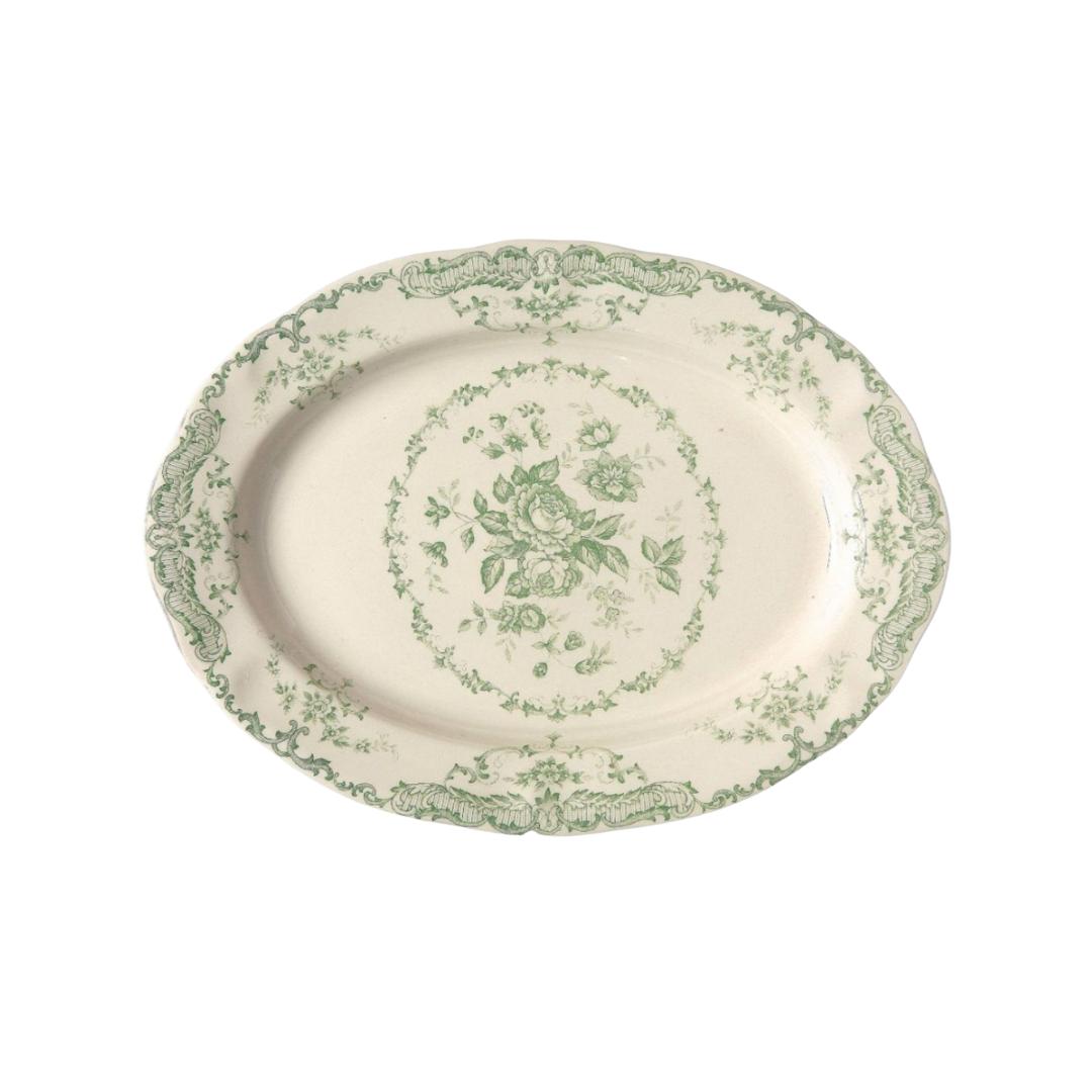 Vintage Inspired Sage Green Platter | Louella Reese
