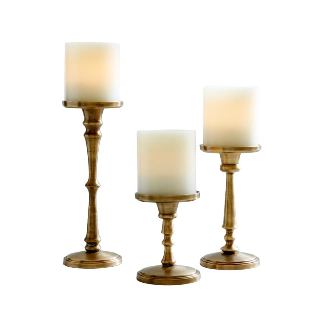 brass candlesticks | Louella Reese