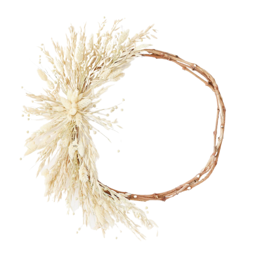 neutral fall wreath | Louella Reese