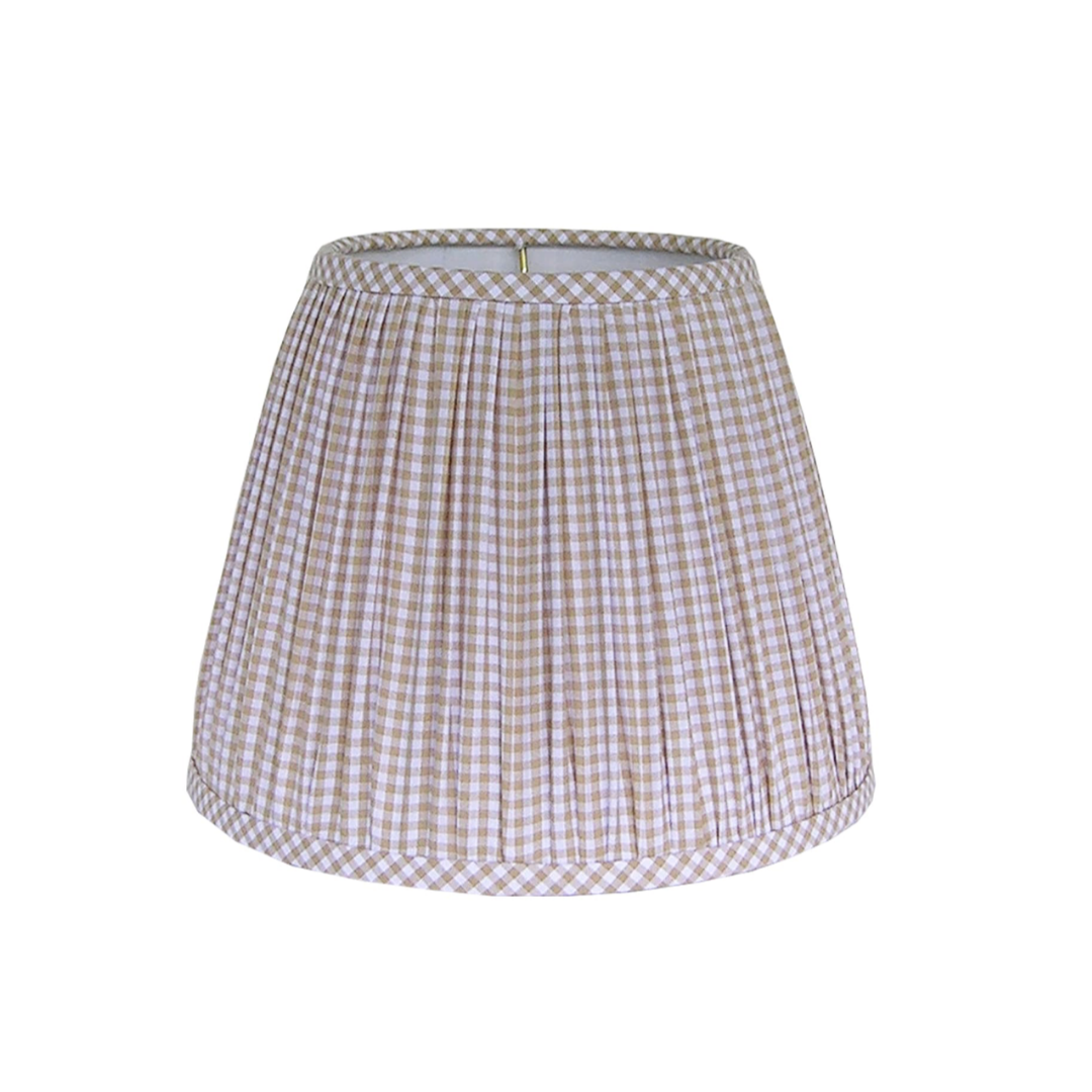 Gingham Pleated Lampshade   Louella Reese