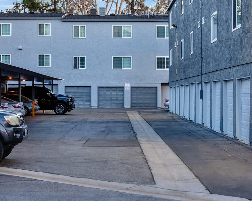 covered parking garages