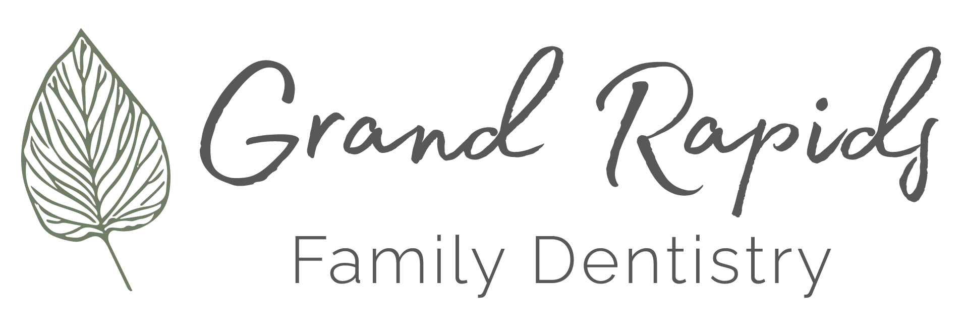 Grand Rapids Family Dentistry_Primary Logo Set-Green - Charcoal