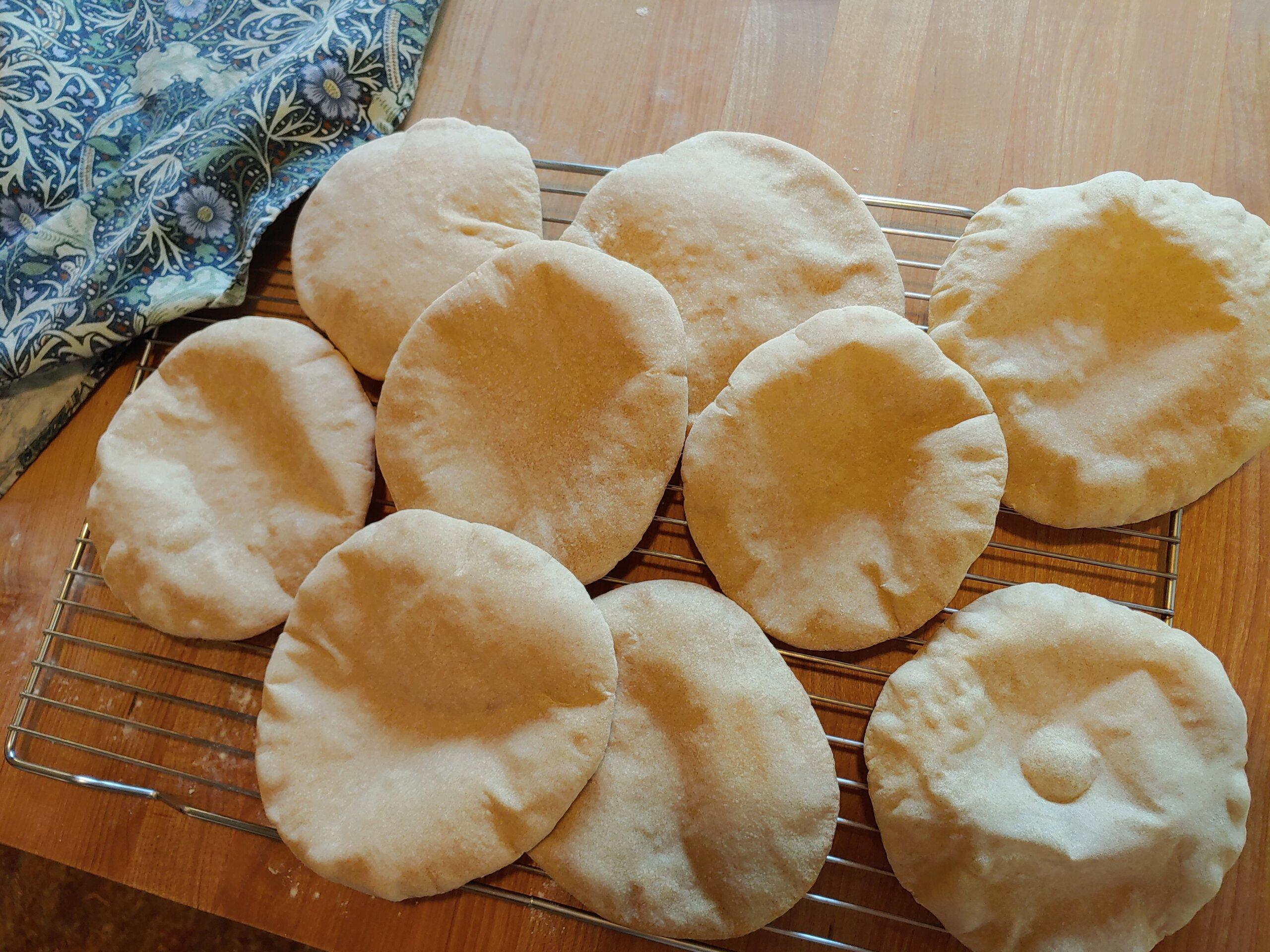 Pita Bread with Sourdough Discard