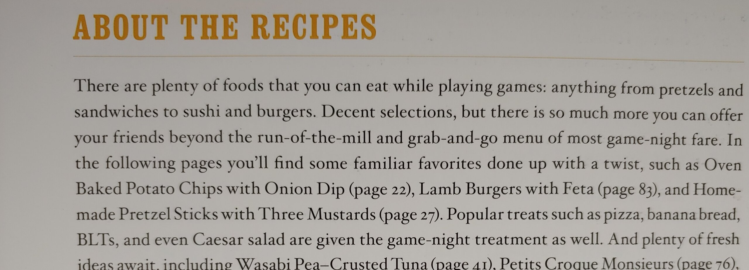 """Recipes and """"About"""" Them"""