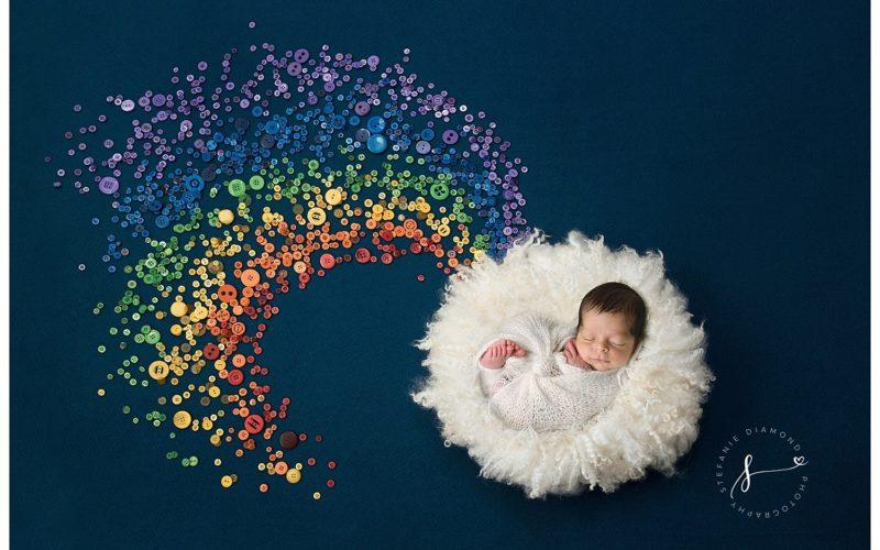 Bergen County Newborn Photographer | Newborn Rainbow Baby