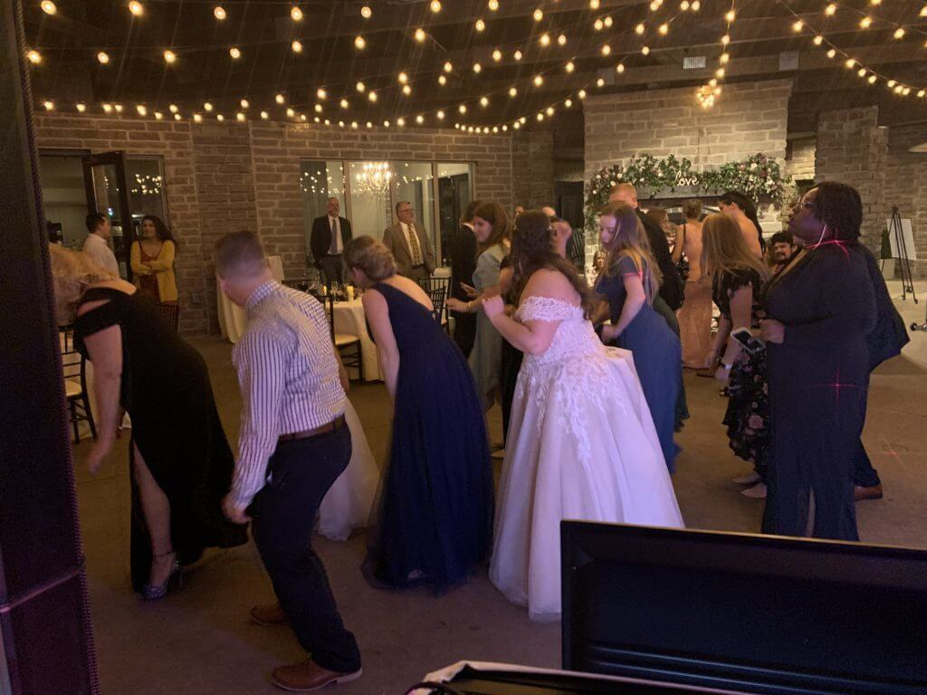 dj playing music at a wedding