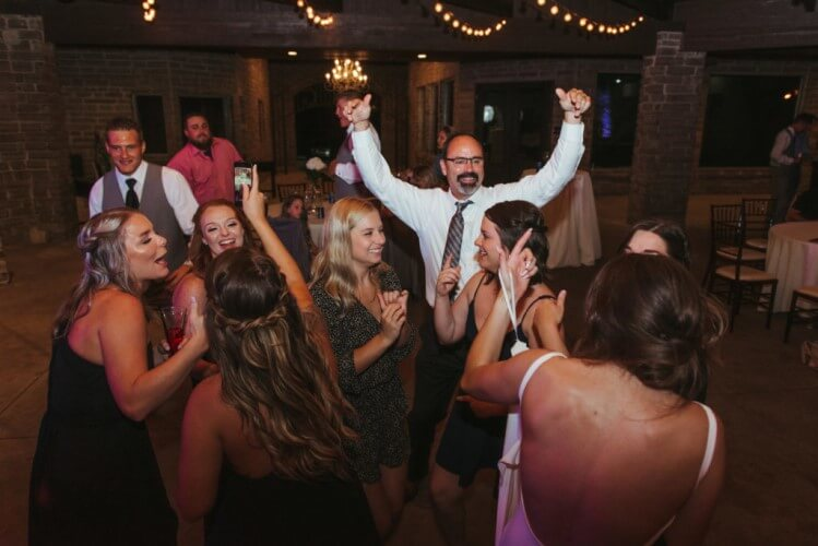 man dancing at a wedding