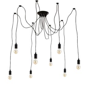 Edison PENDANTS  light industrial  retro vintage  style cluster spider bulb