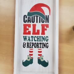 Framed-Caution-Elf-Watching-and-Reporting