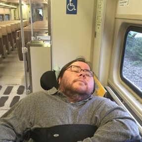 Dominick on a Train
