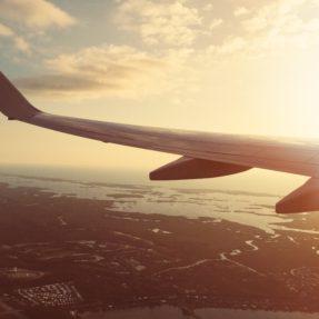 Airplane Wing in Sun