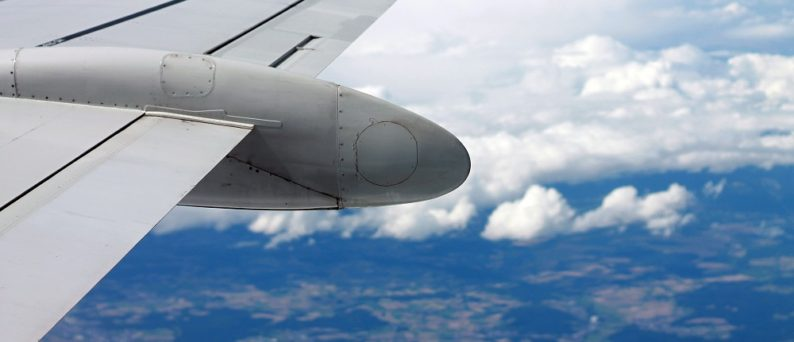Airplane Wing in Flight