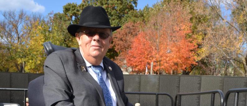 Larry Dodson at Vietnam Veterans Memorial on the National Mall