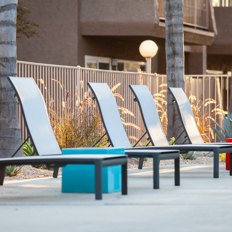 Pool Chairs at The Jackson Apartments